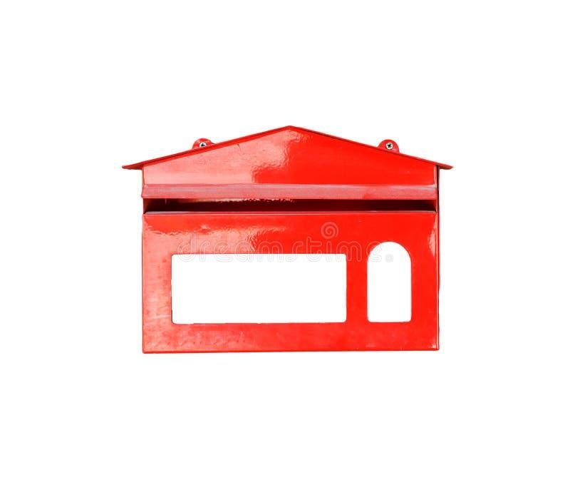 Rode geïsoleerde brievenbus stock afbeeldingen