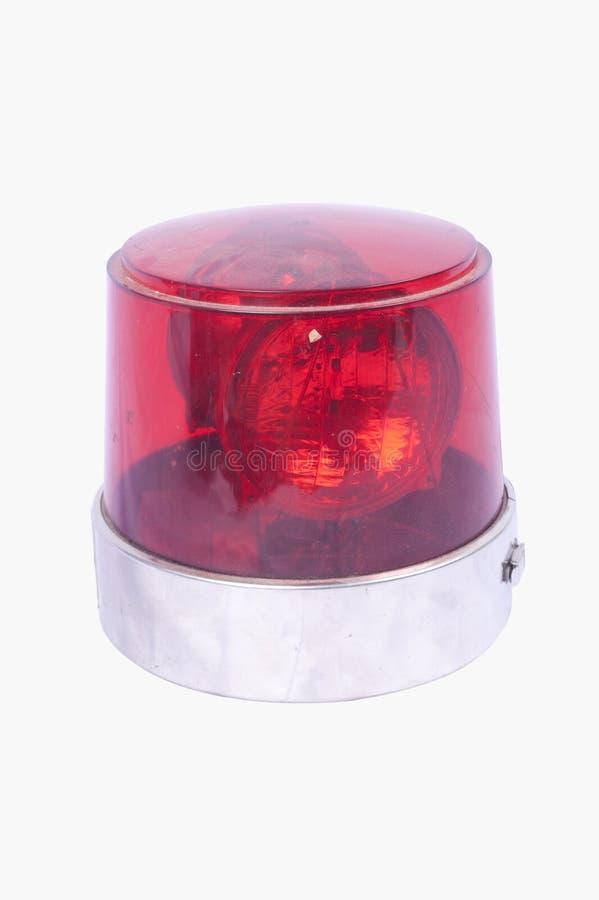 Rode geïsoleerde sirene stock fotografie