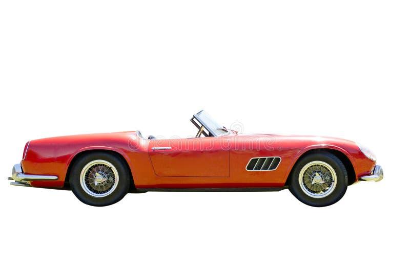 Rode Geïsoleerde Sportwagen royalty-vrije stock fotografie