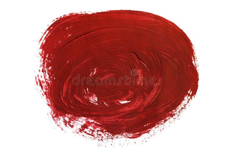 Rode geïsoleerde verfvlek royalty-vrije illustratie