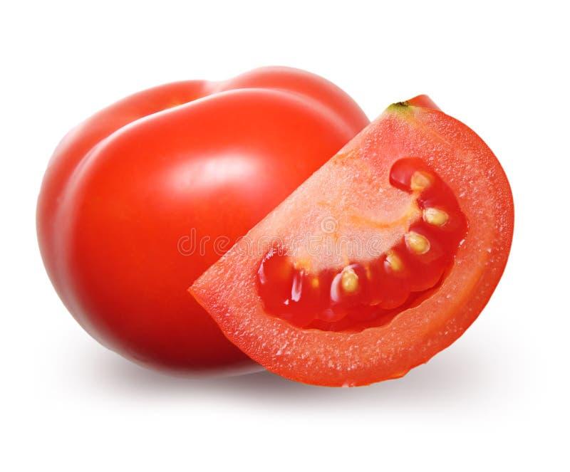 Rode geïsoleerdei tomaat. stock foto's