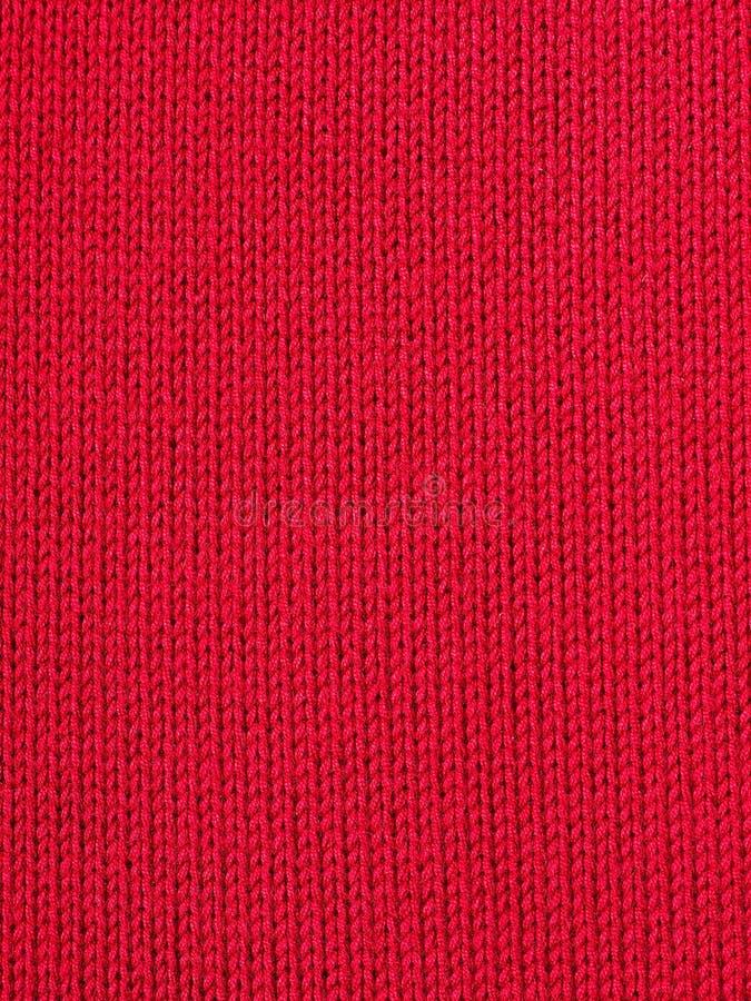 Rode gebreide stof royalty-vrije stock afbeeldingen