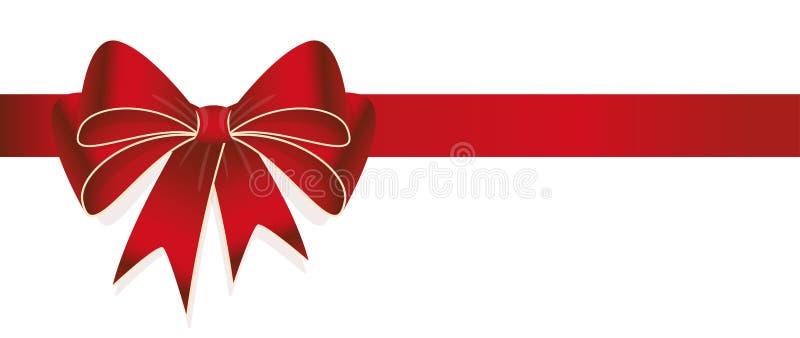 rode gekleurde lintboog stock illustratie