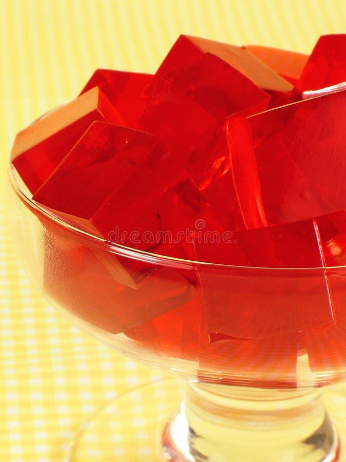 Rode Gelatine stock fotografie