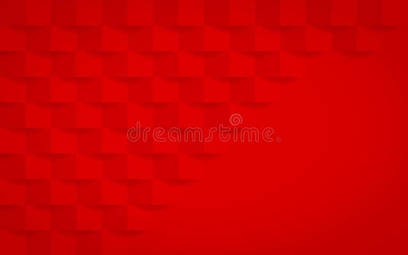 Rode geometrische textuur Abstract grafisch ontwerp als achtergrond vector illustratie