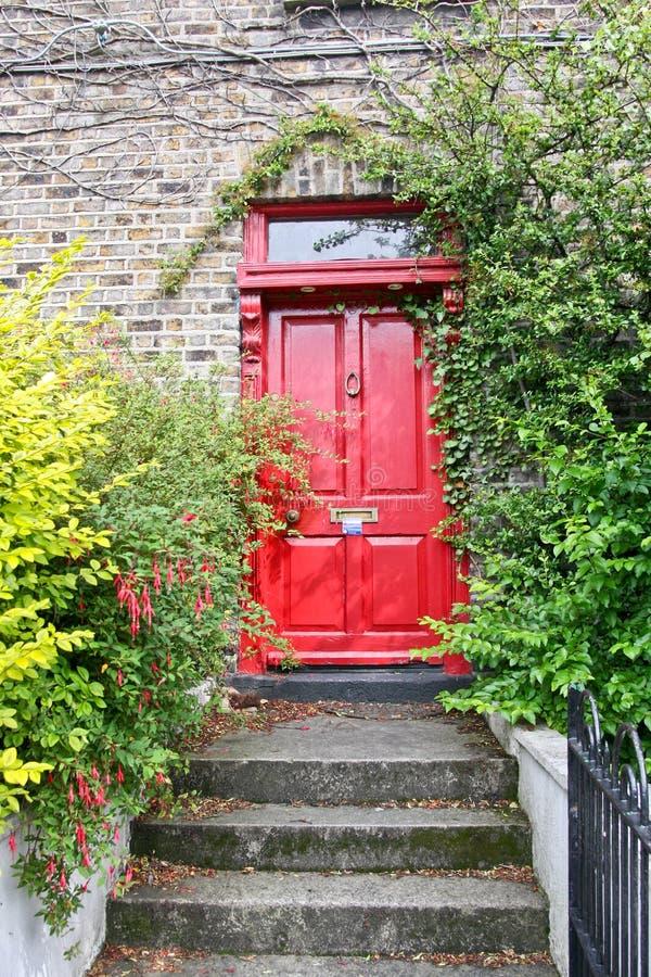 Rode Georgische deur, Dublin, Ierland royalty-vrije stock afbeelding