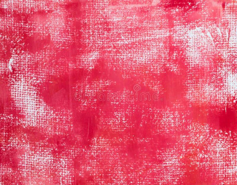 Rode Geschilderde Textuur royalty-vrije stock foto