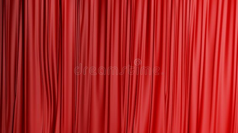 Rode gesloten gordijnachtergrond in een theater royalty-vrije stock foto's