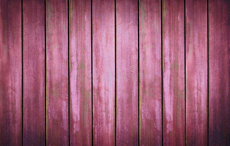 Rode gewassen houten textuur oude panelen als achtergrond stock afbeeldingen