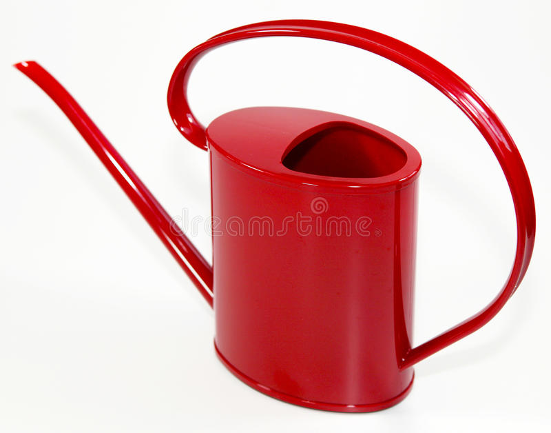 Rode gieter royalty-vrije stock fotografie