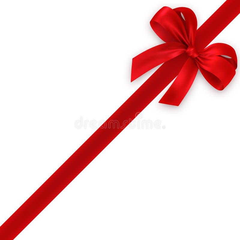 Rode gift, lint, boog vector illustratie