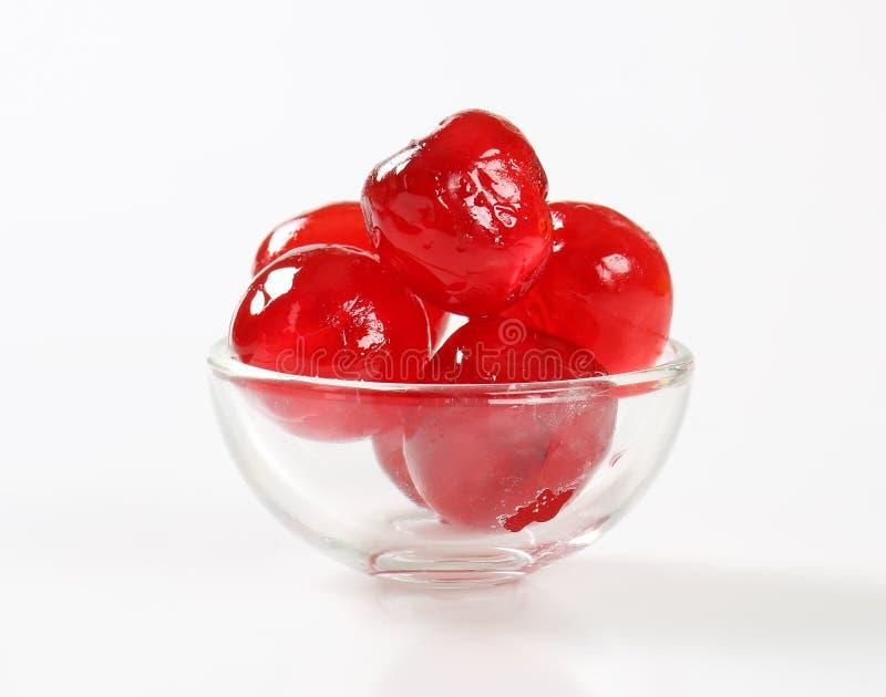 Rode Glace-Kersen stock afbeelding