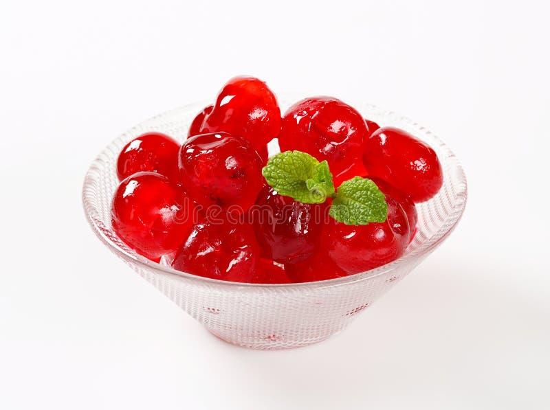 Rode Glace-Kersen stock foto's