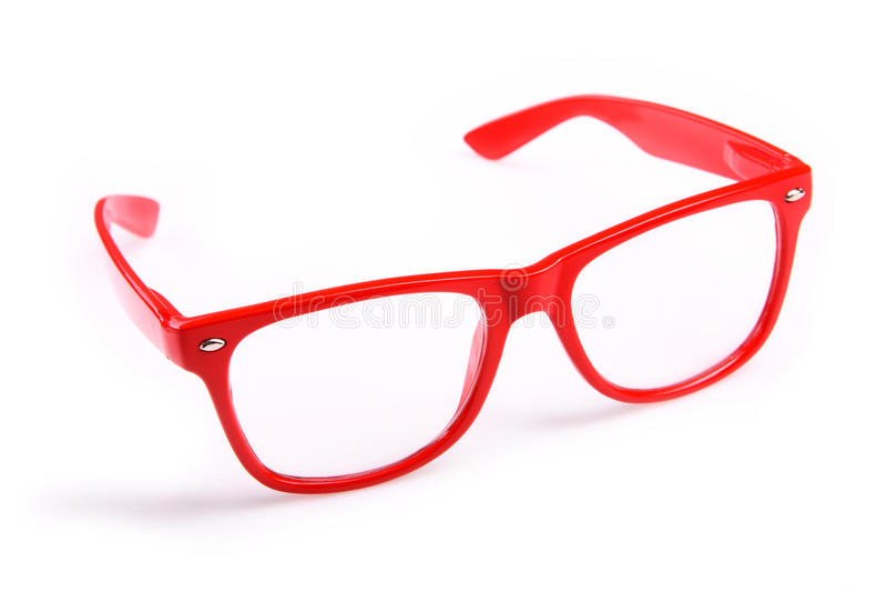 Rode glazen stock foto