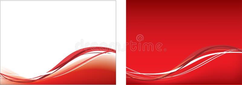 Rode golf en netwerkachtergrond royalty-vrije illustratie