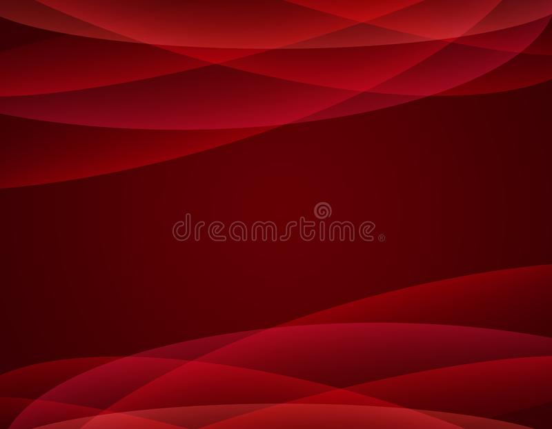 Rode golvende abstracte achtergrond royalty-vrije illustratie