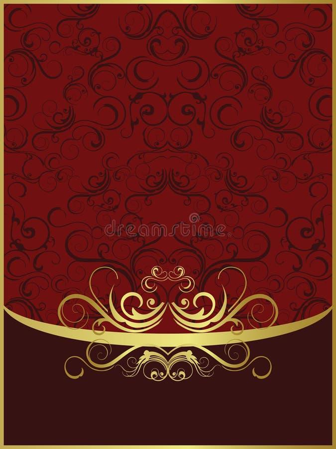 Rode gouden achtergrond stock foto's