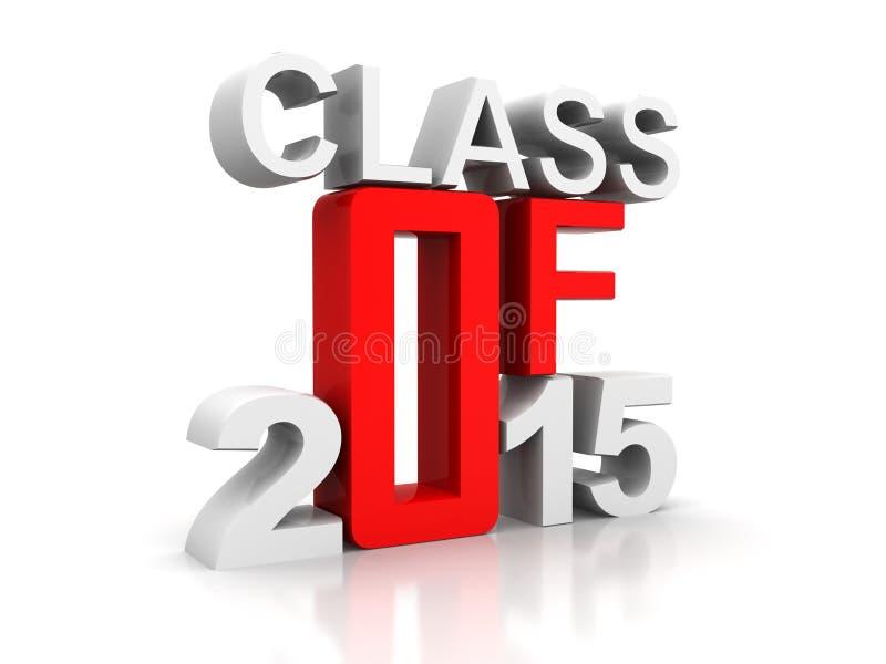 Rode graduatie voor 2015 stock illustratie