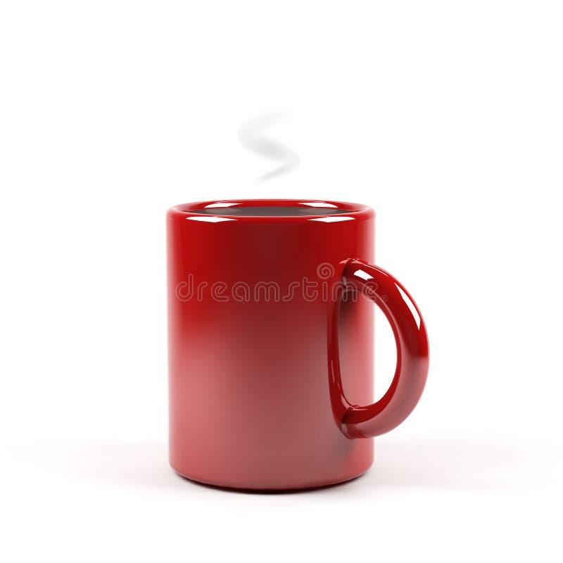Rode grafische kop van koffie stock illustratie
