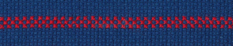 Rode grens op blauwe aida stock fotografie