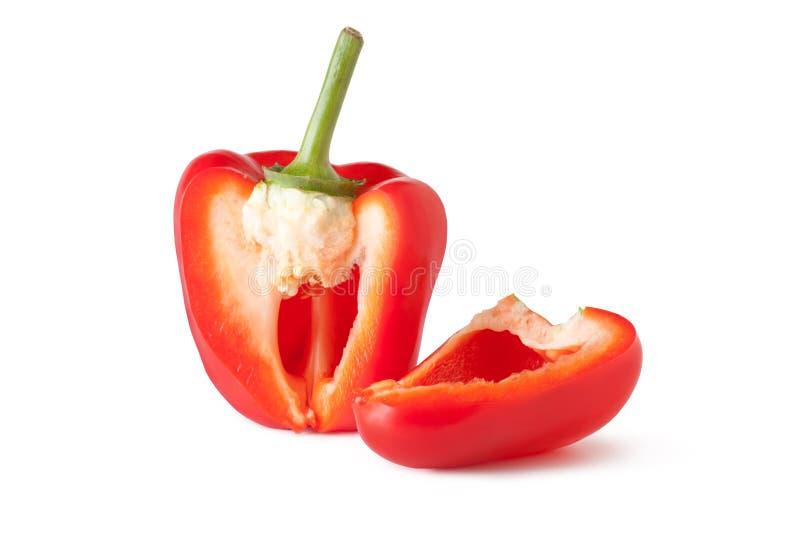 Rode Groene paprika stock foto