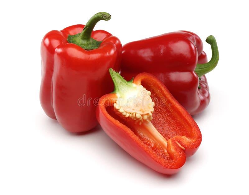 Rode Groene paprika's stock foto's