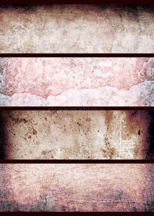 Rode grungemuur stock foto's