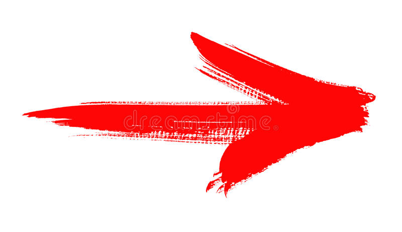 Rode grungepijl royalty-vrije illustratie