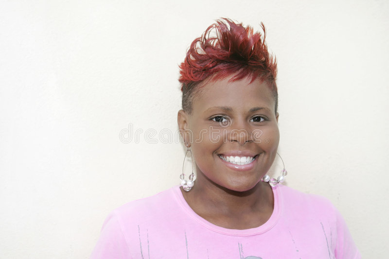 Rode haired vrouw royalty-vrije stock fotografie