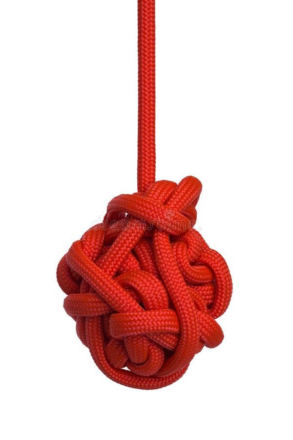 Rode Hangende Knoop stock fotografie