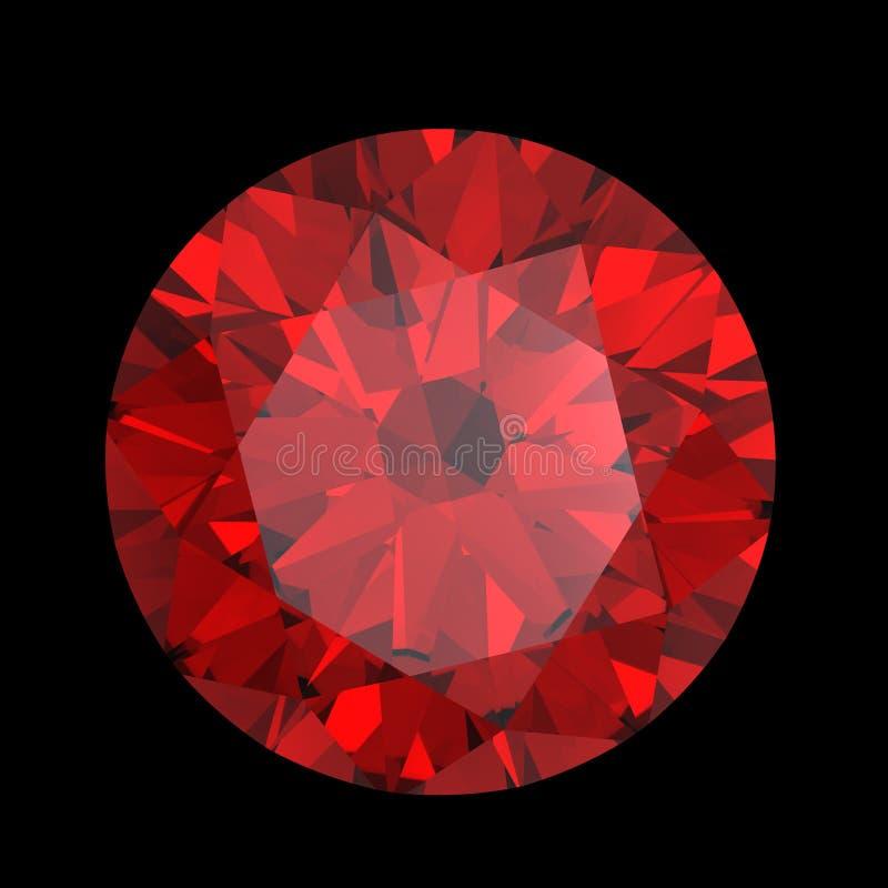 Rode hart gevormde granaat stock illustratie