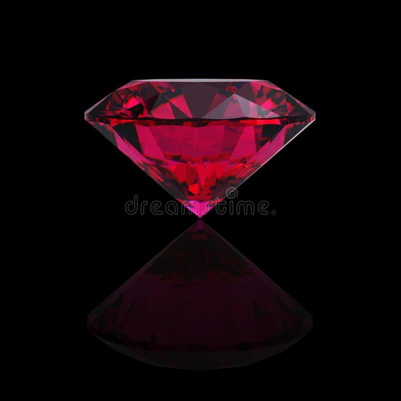 Rode hart gevormde robijn vector illustratie