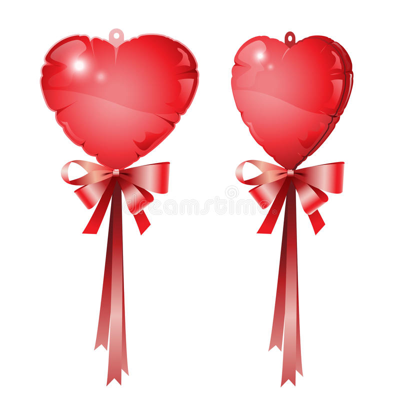 Rode hartballon royalty-vrije stock afbeeldingen