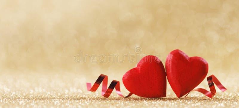 Rode harten symbool van liefde royalty-vrije stock foto's