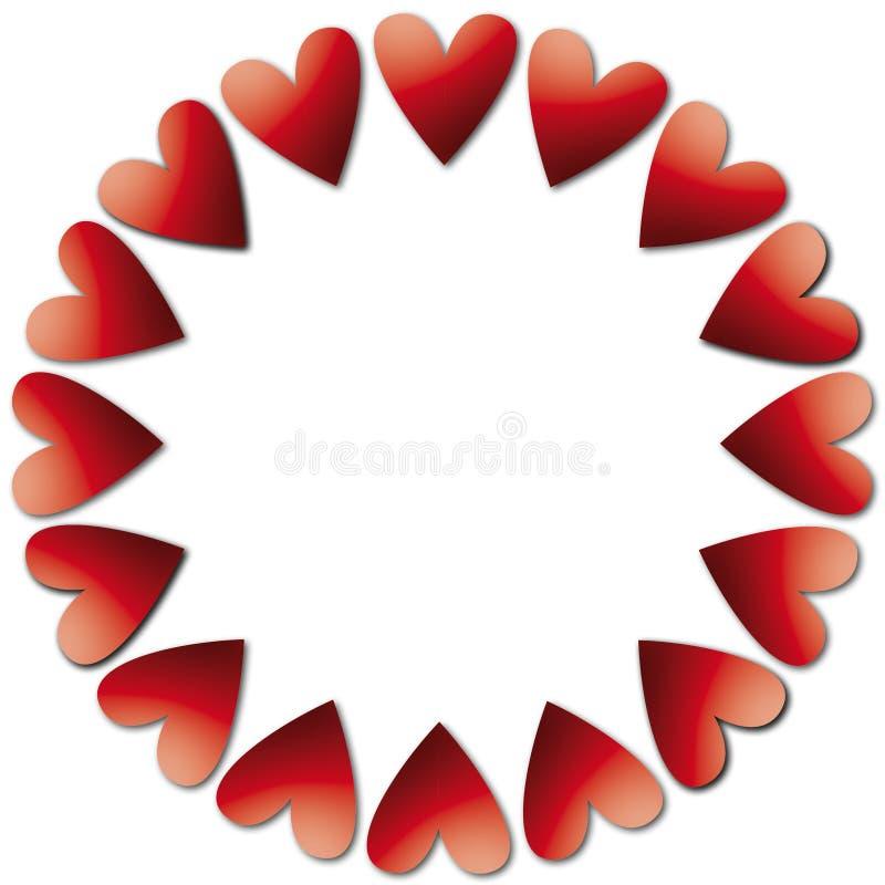 Rode harten voor vreugde stock fotografie