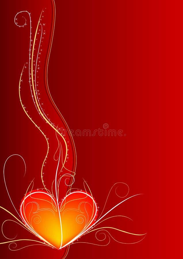 Rode hartverticaal royalty-vrije stock afbeelding