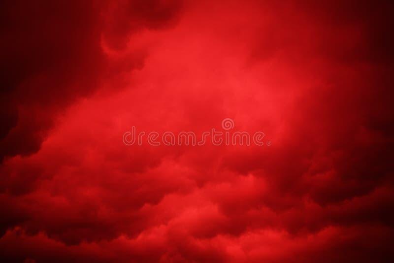 Rode hemel royalty-vrije stock afbeelding