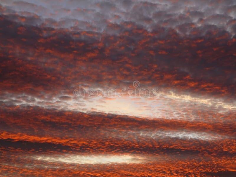 Rode hemel bij schemer royalty-vrije stock afbeeldingen