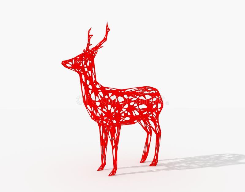 Rode herten vector illustratie