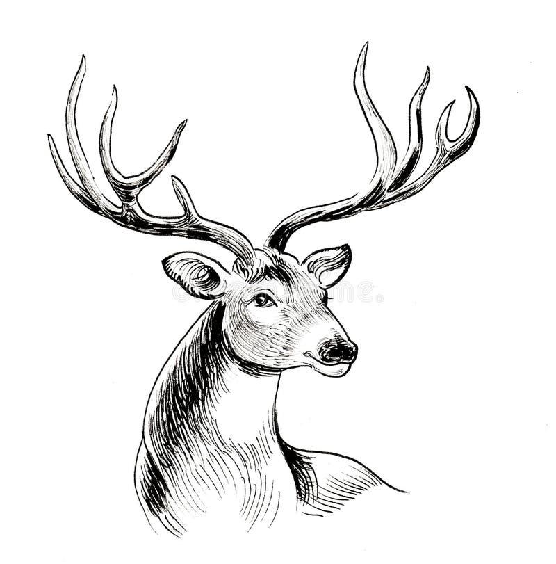 Rode Herten stock illustratie
