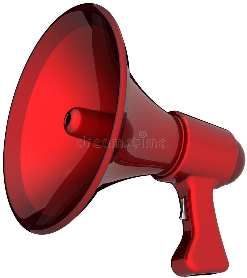 Rode het alarmsirene van de megafoon vector illustratie