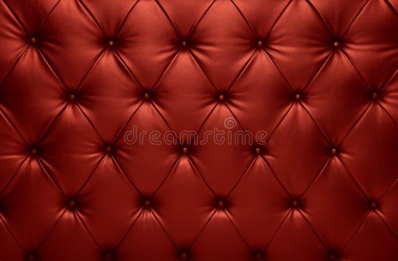 Rode het leerdecoratie van de capitone geruite bus royalty-vrije stock foto's