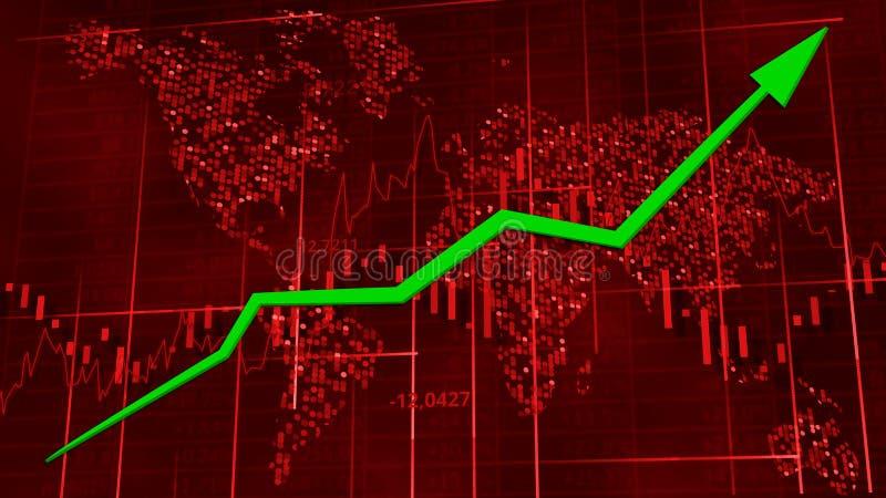 Rode hi-tech achtergrond - voorraaddiagrammen stock illustratie