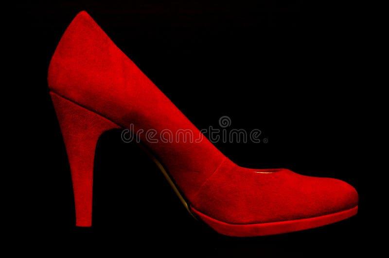 Rode Hoge Hiel stock foto