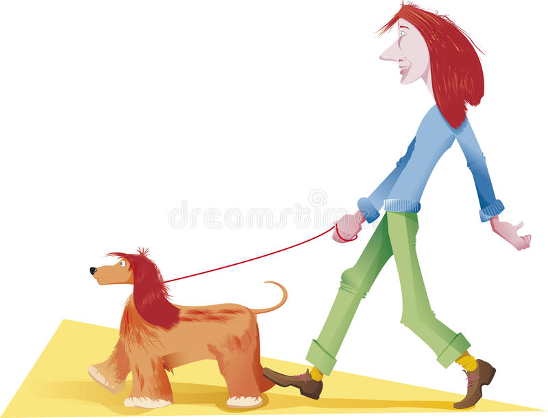 Rode hond stock illustratie