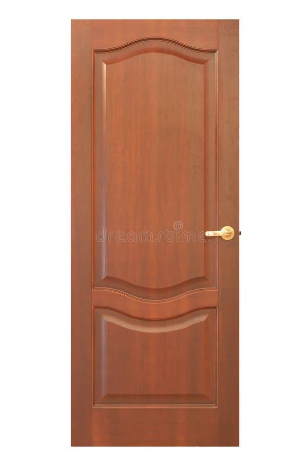 Rode houten deur royalty-vrije stock afbeeldingen