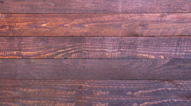 Rode houten textuur Donkere oude houten panelen als achtergrond royalty-vrije stock foto