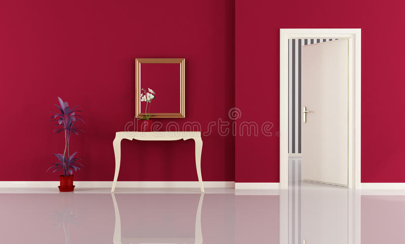 Rode huisingang stock illustratie