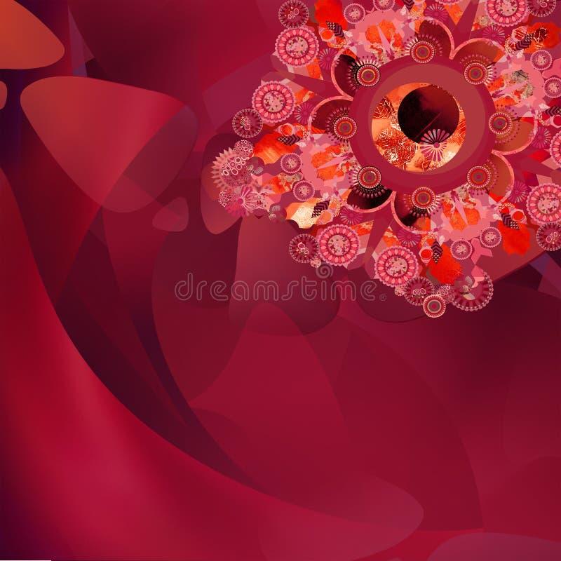 Rode illusie 3 royalty-vrije stock afbeeldingen