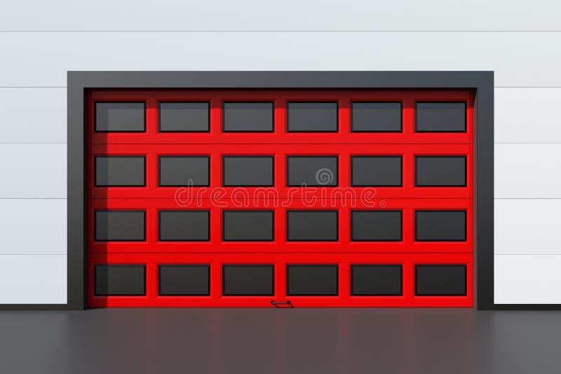 Rode Industriële Deur stock illustratie